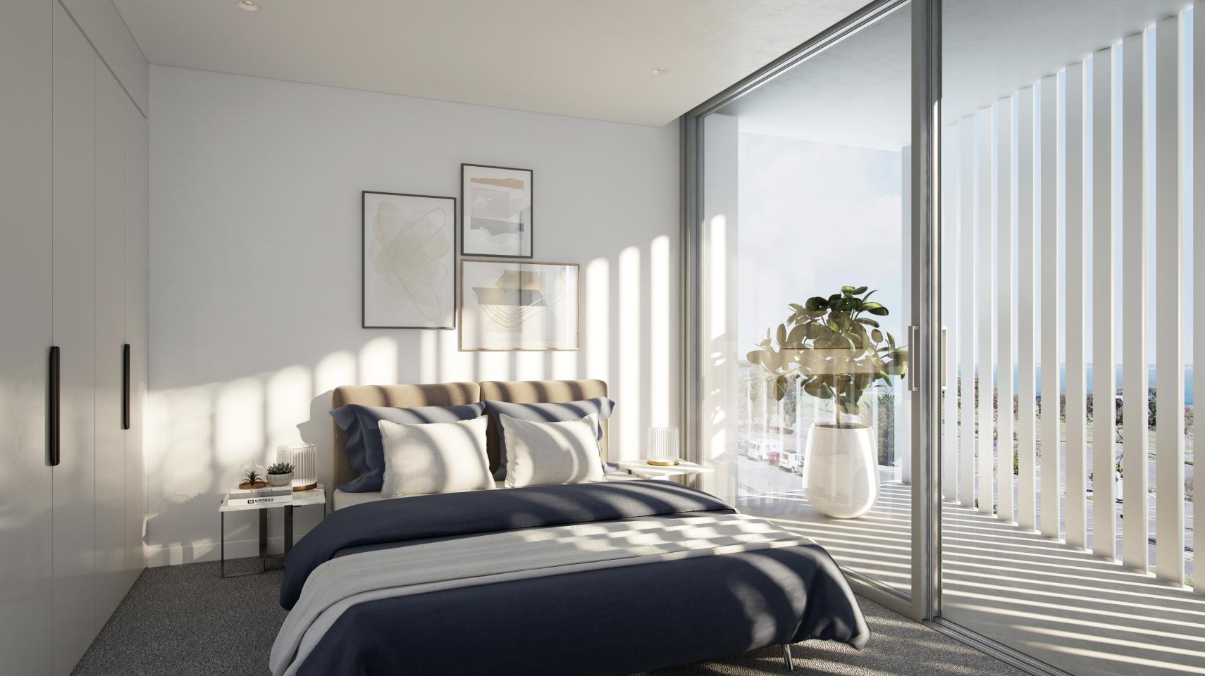acqua bedroom with ocean-views