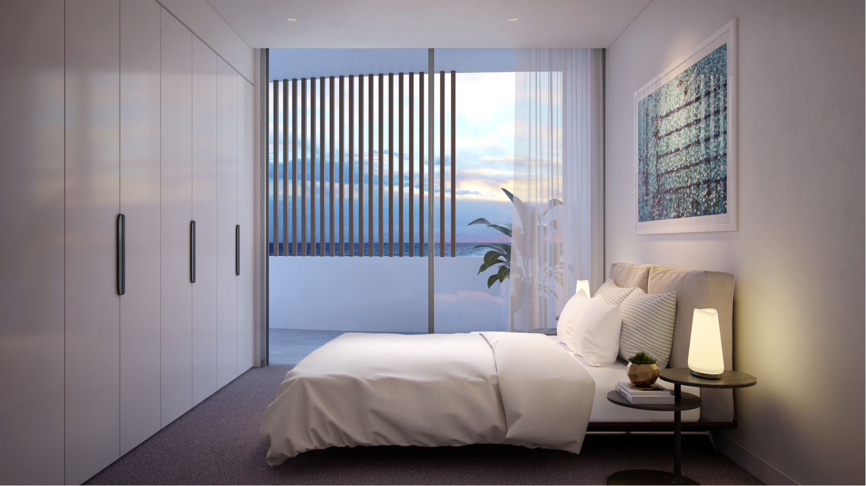 acqua bedroom with water views