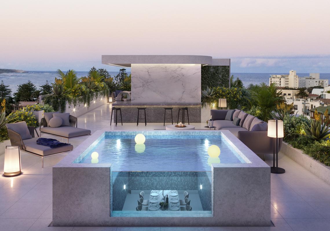 oasis rooftop pool