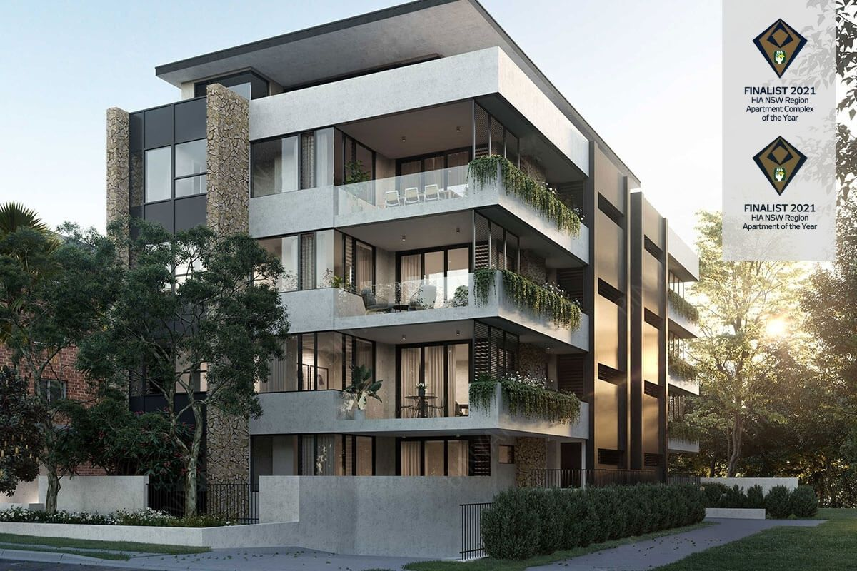2021 Apartment complex of the year and Apartment of the year finalist, Omnia Cronulla by Bronxx